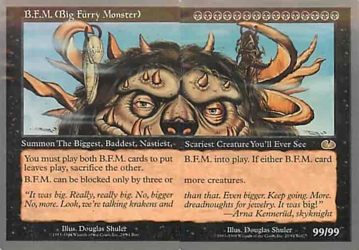 MTG B.F.M. (Big Furry Monster)